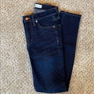 Madewell 9 inch skinny jeans. Size 25. Dark rinse